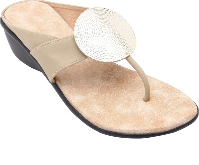 Royal Collection Women Beige Wedges