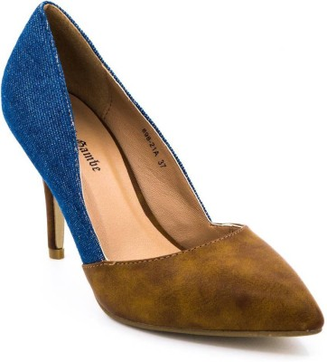 Belle Gambe Women Blue, Brown Heels