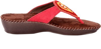 Awssm Women Red, Yellow Flats