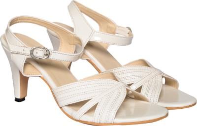 Adorn Women White Heels