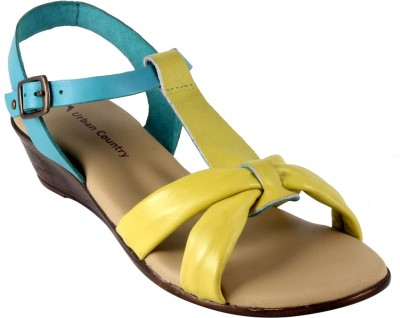 Urban Country Women Blue Wedges