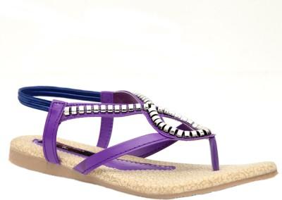 Trilokani Stylish Sandale Women Purple Flats