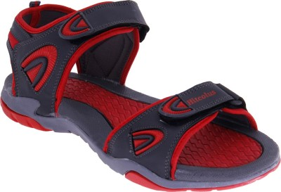 Hitcolus Men Grey, Red Sandals