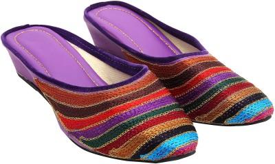 Ridhi Sidhi Women Purple Wedges