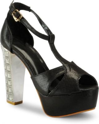 Aqua Women Black Heels
