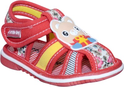 Offspring Girls Red, Yellow Sandals