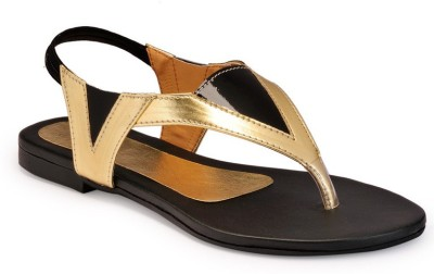 Something Different Women Black, Gold Flats