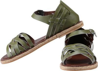 Claude Lorrain Women Green Flats