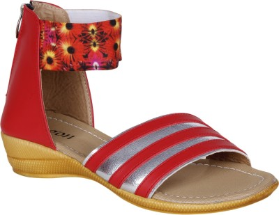 VAGON Girls Red Sandals