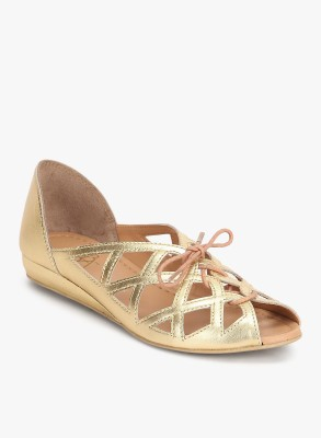 Zebba Women Gold Flats