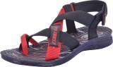 Pu-Trust Men BLACK-RED Sandals