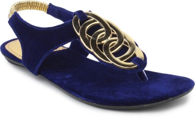 SRS Blue Women Casual Sandal Women Blue Flats