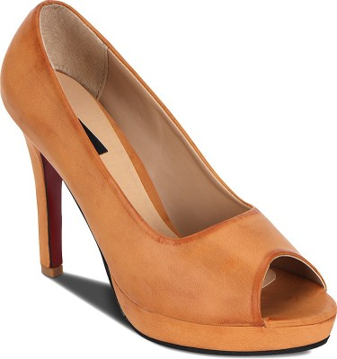 Kielz Women Tan Heels