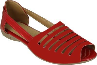 Jayn Martin Women Red Flats