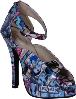 John Sparrow Women Blue Heels