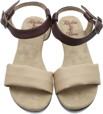 Rhythm & Shoes Women Beige Flats