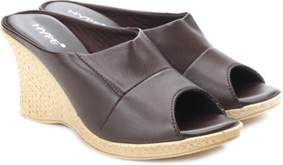 Hype Women Brown Wedges