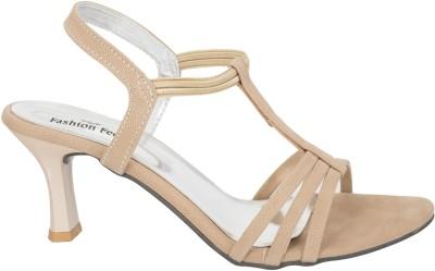 Fashion Feet Women Beige Heels
