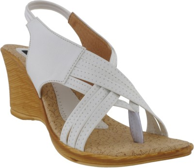Footsy Women White Wedges