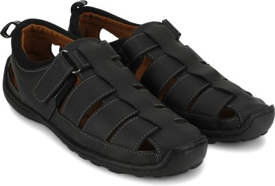M-ZONE Men Black Sandals