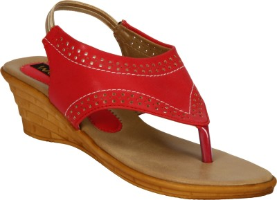 Welson Women Red Wedges