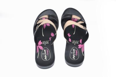 Stylewalk Women Black, Beige Flats