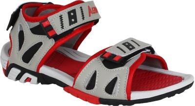 Aero Men Black, Red, Grey Sandals