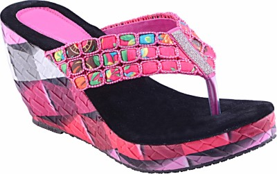 Fabme Women Pink Wedges
