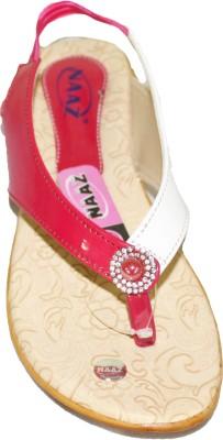 NAAZ Girls, Women White, Pink Flats