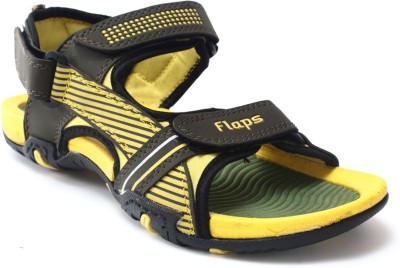Flaps Men Yellow, Green Sandals
