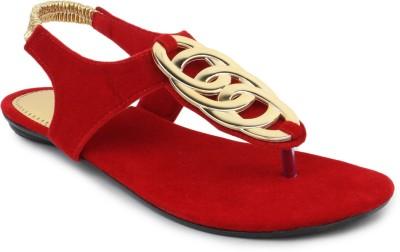 SRS Red Women Casual Sandal Women Red Flats