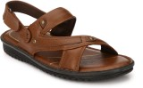 Shoegaro Men Tan Sandals