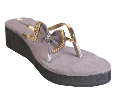 Azores Women Grey Wedges