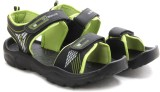 Globalite Men Grey Lime Sports Sandals