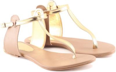 Cenizas Golden Pie Women Brown Flats