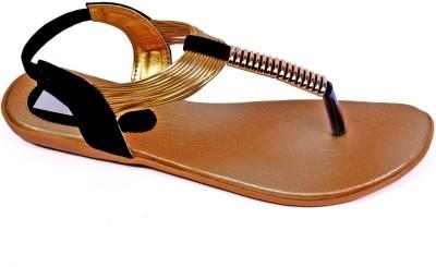 S.M.A.R.T Feet Women Black, Gold Flats