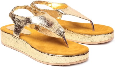 Unique Selection Women Yellow Flats