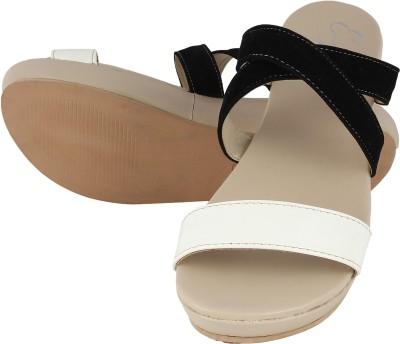 Elegante Moda Women Black, White Wedges