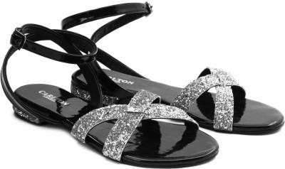 Carlton London Women Black, Silver Flats