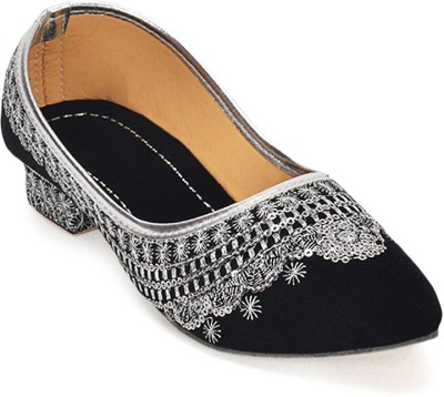 Paduki Ethnic Women Black Heels