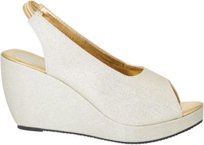 Fashion Feet Women Gold Wedges