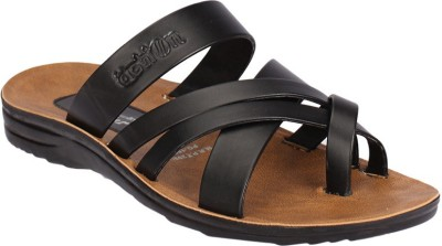 Action Flotter Men Black Sandals