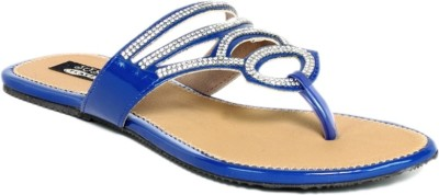 Just Flats Women Blue, Beige Flats