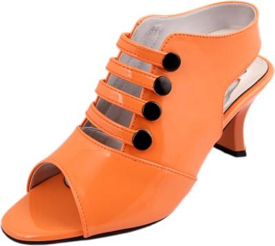 Style Her Women Orange Heels