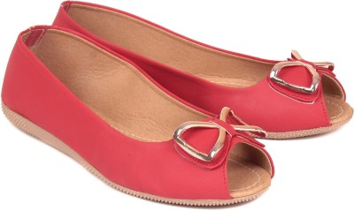 bare soles Women Red Flats