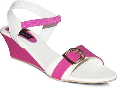 Zikrak Exim Women White, Pink Wedges