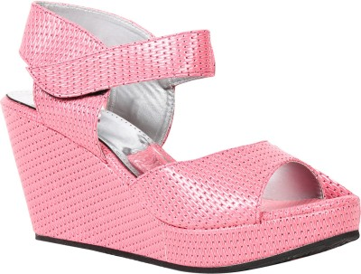 Butterfly Women Pink Wedges