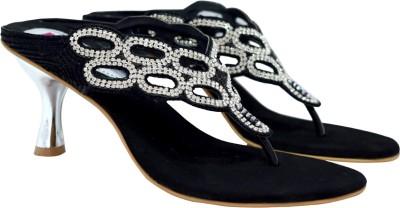 Femine Women Black Heels