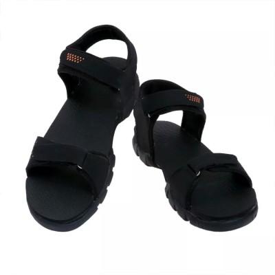 Ziesha Men Black, Orange Sandals