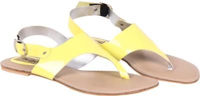 Big Buckles NEO Women Yellow Flats